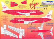 1/144 Scale Decal Virgin Express 737-300 / 400