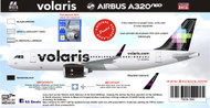 1/144 Scale Decal Volaris A-320 NEO