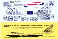 1/200 Scale Decal British Airways 747-400 Delftblue Daybreak