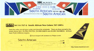 1/200 Scale Decal South African 767-200