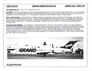 1/200 Scale Decal Grand Airways DC9-30