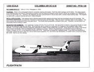 1/200 Scale Decal Air Columbia DC9-30