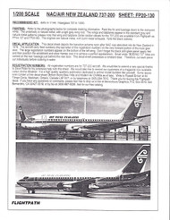 1/200 Scale Decal Air New Zealand 737-200