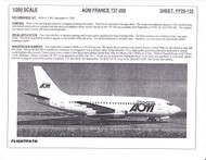 1/200 Scale Decal AOM France 737-200