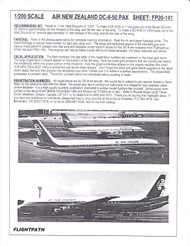 1/200 Scale Decal Air New Zealand DC8-50