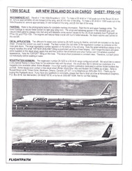1/200 Scale Decal Air New Zealand DC8-50 Cargo