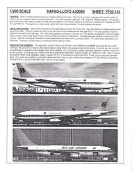 1/200 Scale Decal Dan-Air London / Hapag-Lloyd A300-B4