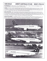 1/200 Scale Decal Ansett Australia 737-300