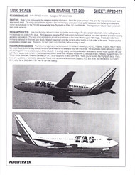 1/200 Scale Decal EAS France 737-200
