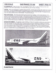 1/200 Scale Decal EAS France 737-300