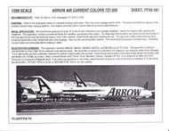 1/200 Scale Decal Arrow Air 727-200