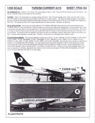 1/200 Scale Decal Turkish Airlines A-310