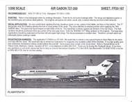 1/200 Scale Decal Air Gabon 727-200