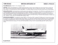 1/200 Scale Decal British AirTours 747