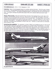 1/200 Scale Decal Dan-Air London 727-200
