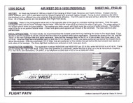 1/200 Scale Decal Air West DC9-10 / 30 RED / GOLD