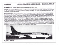 1/200 Scale Decal British Midland 737-200 / 300 / 400 / 500