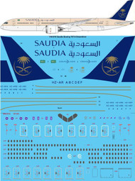 1/144 Scale Decal Saudia 787-9