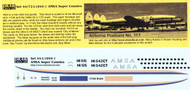 1/144 Scale Decal AMSA Super Connie
