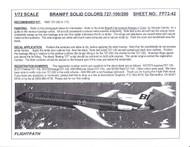 1/72 Scale Decal Braniff International 727-100 / 200