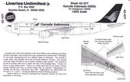 1/200 Scale Decal Garuda Indonesia A-300