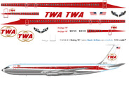 1/144 Scale Decal TWA 707-320 Twin Globe