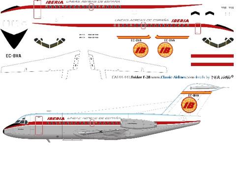 1/144 Scale Decal Iberia F-28