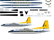 1/144 Scale Decal Condor / Lufthansa F-27