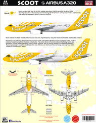 1/144 Scale Decal Scoot A-320