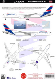 1/144 Scale Decal LATAM 787-9