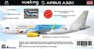 1/144 Scale Decal Vueling A-320 Disneyland Paris
