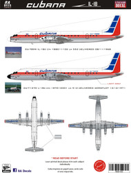 1/144 Scale Decal Cubana IL-18