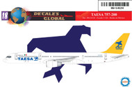 1/144 Scale Decal TAESA 757-200