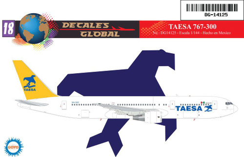 1/144 Scale Decal TAESA 767-300