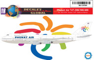 1/144 Scale Decal Phuket Airlines 747-200 / 300 / 400