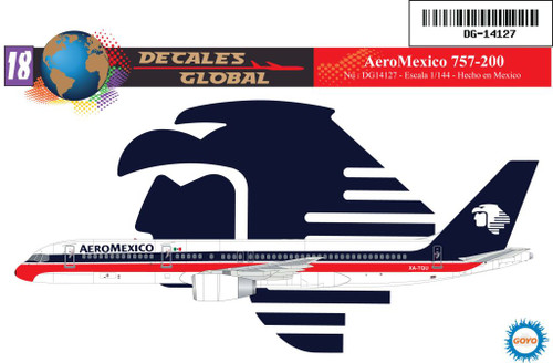 1/144 Scale Decal Aero Mexico 757-200