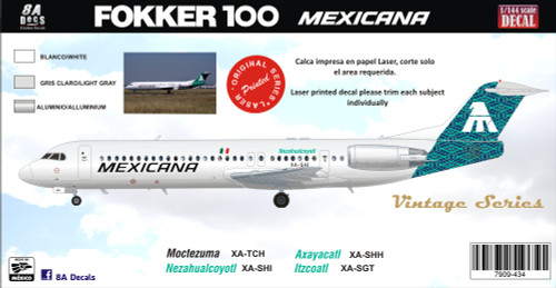 1/144 Scale Decal Mexicana F-100 Green MAT