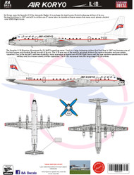 1/144 Scale Decal Air Koryo IL-18 2017