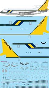 1/144 Scale Decal Sudan Airways Lockheed L-1011