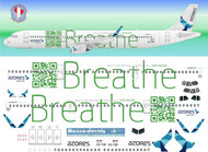 1/144 Scale Decal Azores A-321 logo Jet Breathe