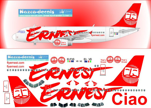 1/144 Scale Decal Ernest A-319