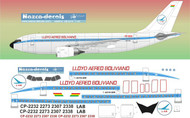 1/144 Scale Decal LAB - LLoyd Aereo Boliviano A310 Old Colors