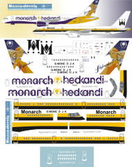 1/144 Scale Decal Monarch 757-200 Classic V2