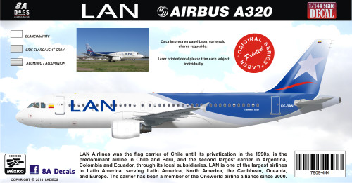 1/144 Scale Decal LAN A-320