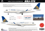 1/144 & 1/100 Scale Decal United Express ERJ-175