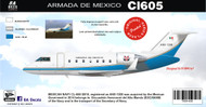 1/144 Scale Decal Armada de Mexico Challenger 605