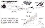 1/144 Scale Decal Philippines 747-400