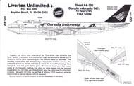 1/144 Scale Decal Garud International 747