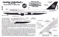 1/144 Scale Decal Varig 747-300