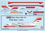 1/144 Scale Decal PSA BAe-146
